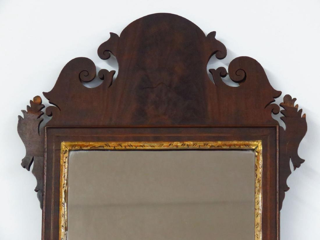 CHIPPENDALE MAHOGANY WALL MIRROR 18/19TH C. - 2