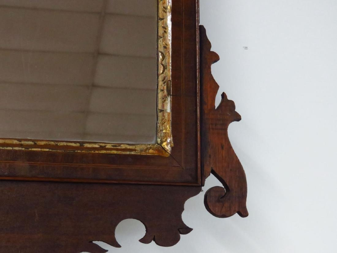 CHIPPENDALE MAHOGANY WALL MIRROR 18/19TH C. - 3