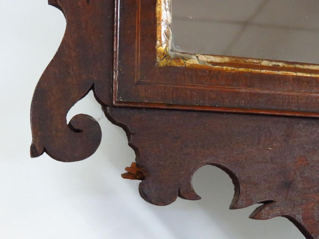 CHIPPENDALE MAHOGANY WALL MIRROR 18/19TH C. - 4