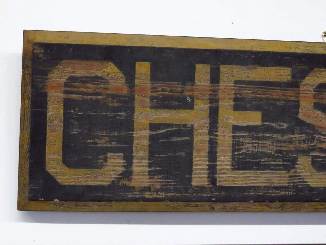 CHESTER, NY PAINTED WOOD RAILROAD STATION SIGN 19TH C. - 2