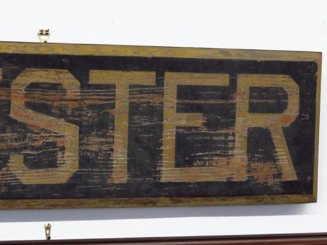 CHESTER, NY PAINTED WOOD RAILROAD STATION SIGN 19TH C. - 3