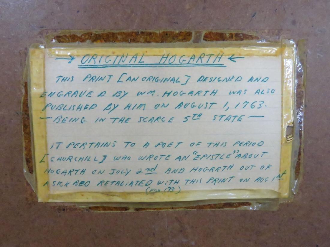 STEEL ENGRAVING 'THE BRUISER C. CHURCHILL' HOGARTH - 4