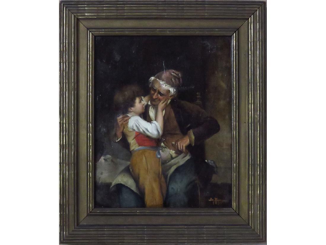 O/C GRANDPA'S BOY, SIGNED DE LUCA 1875