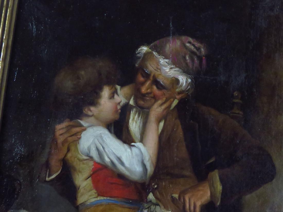 O/C GRANDPA'S BOY, SIGNED DE LUCA 1875 - 2