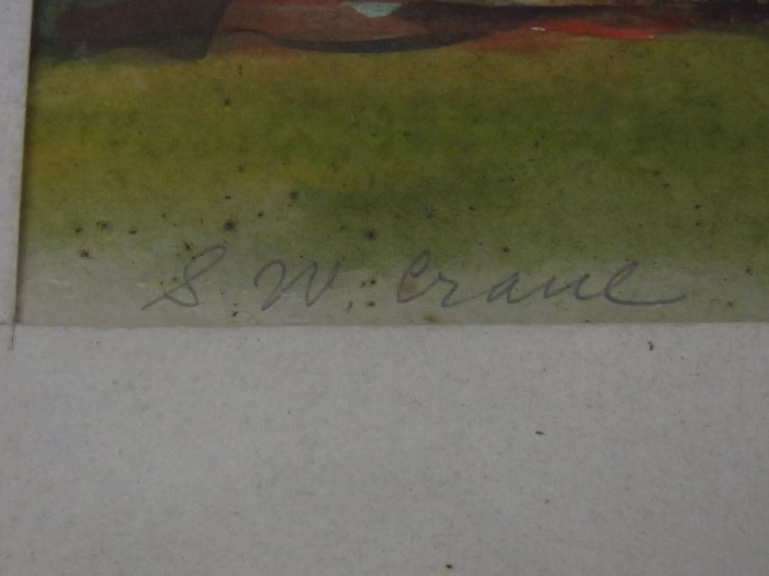 """(2) W/C """"LANDSCAPES"""" SIGNED S.W. CRANE 1905-1973 - 5"""