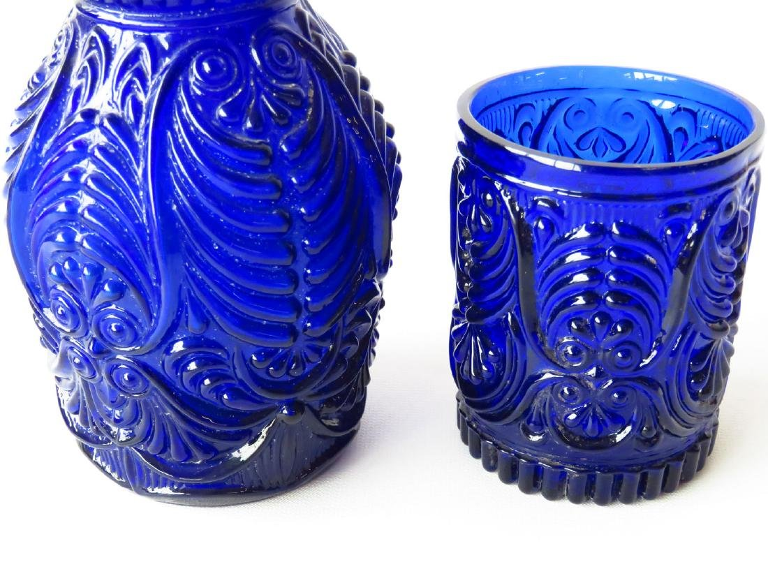 LOT (2) FINE COBALT BOTTLE & TUMBLER 19TH C. - 2