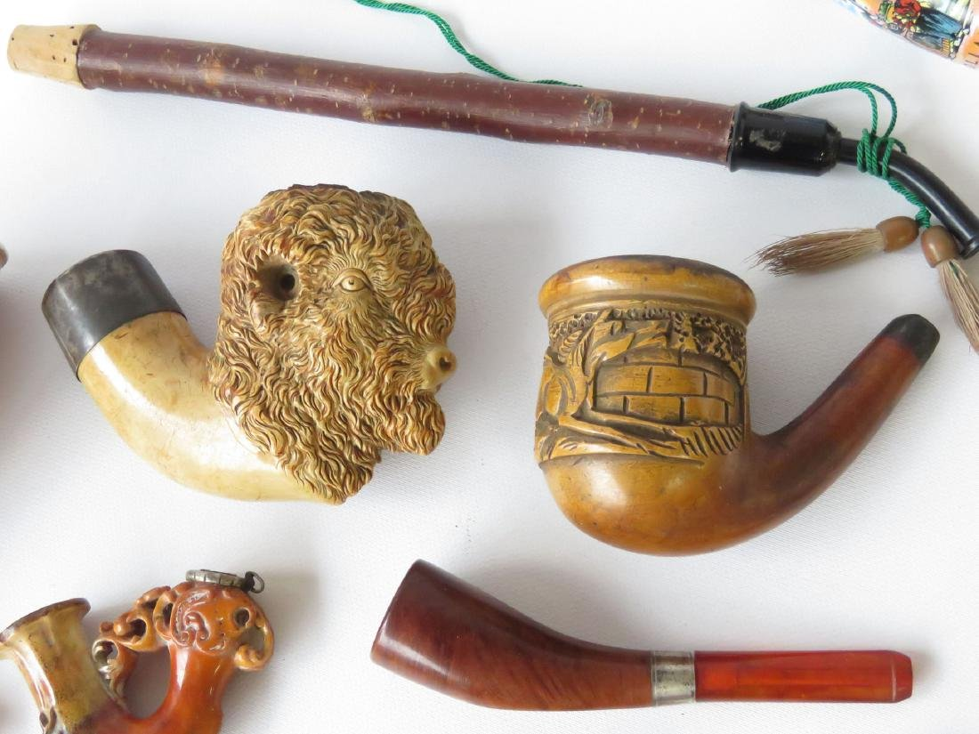 LOT ASSORTED VICTORIAN MERSHERM PIPES 19TH C. - 3