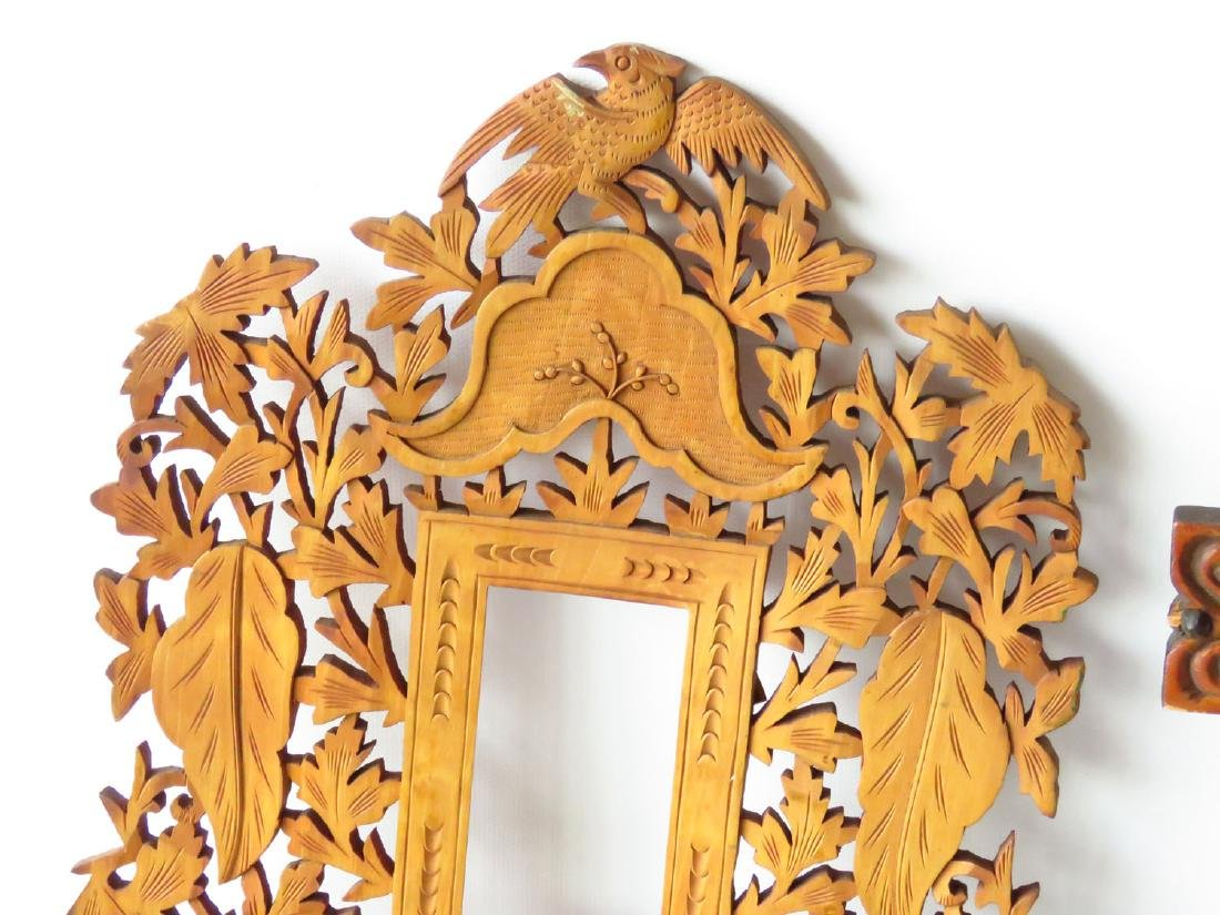 (2) INCL. FOLK ART & VICTORIAN CARVED PINE FRAMES - 2