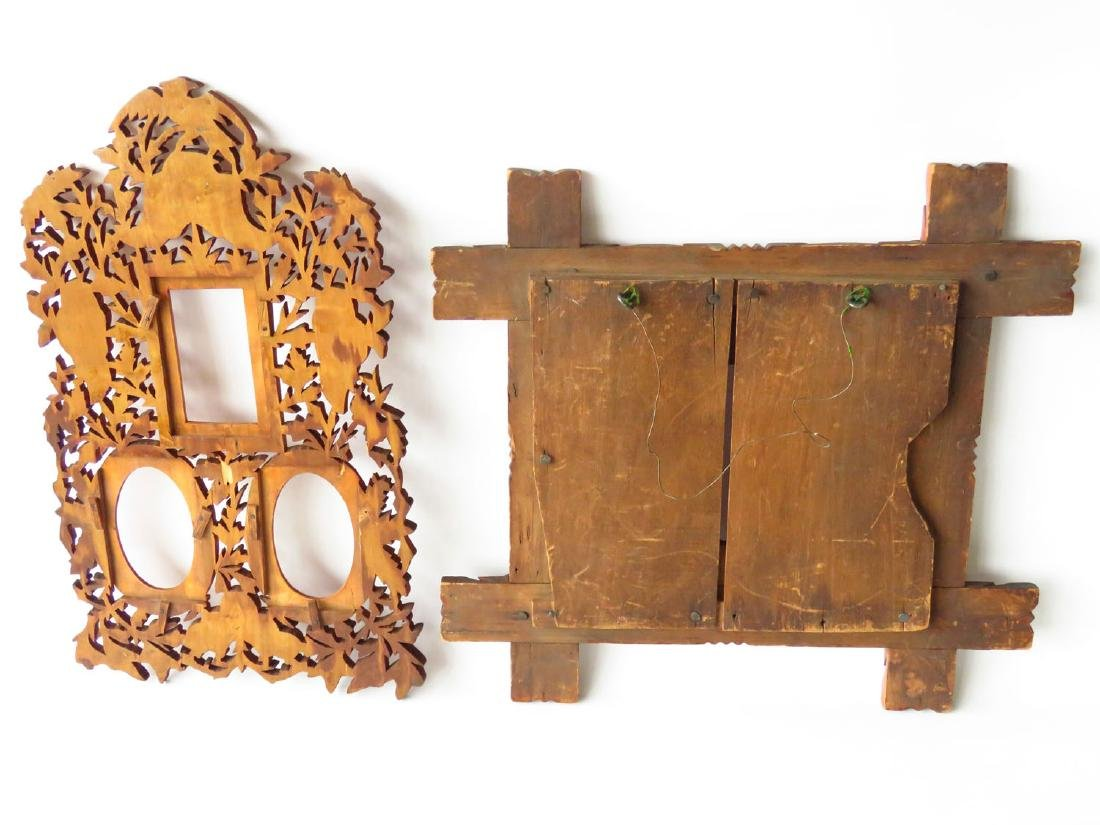 (2) INCL. FOLK ART & VICTORIAN CARVED PINE FRAMES - 4