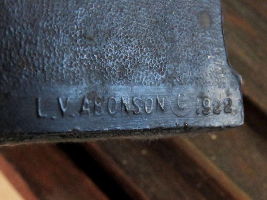 PR. FREEMASON BOOKENDS, SIGNED L.V. ARONSON  1922 - 4