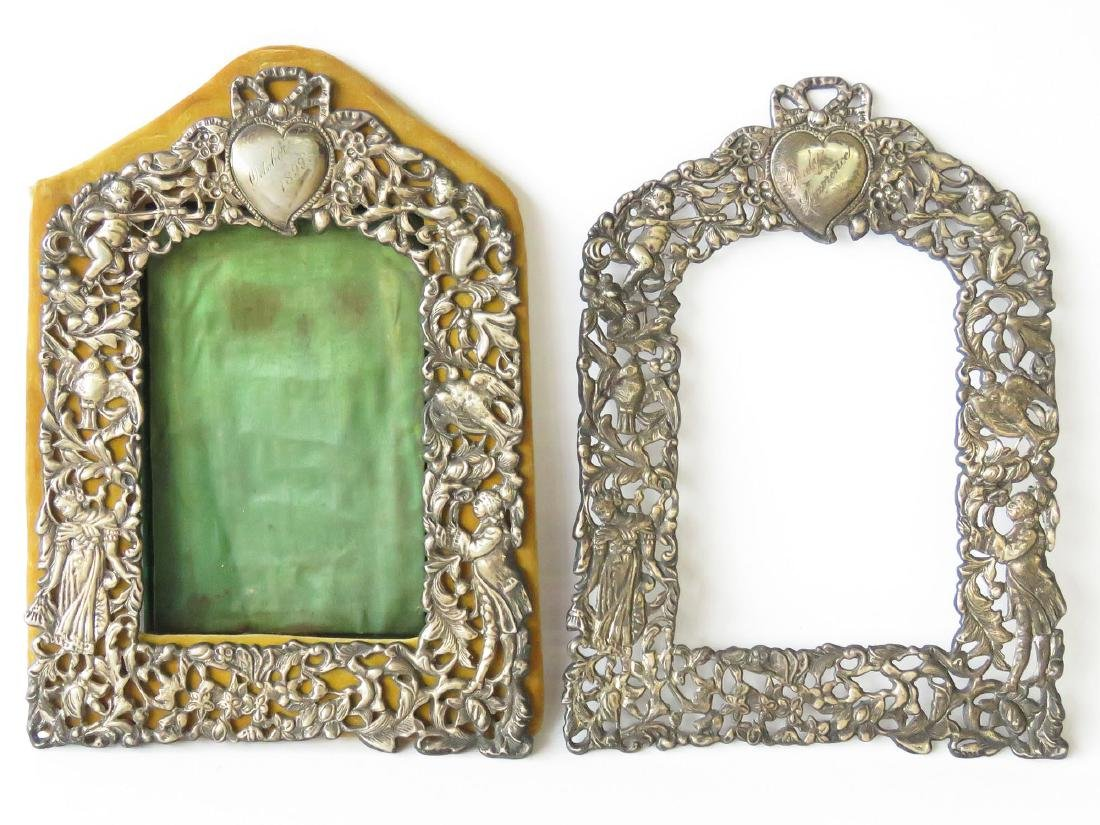 (2) RENAISSANCE STYLE STERLING FRAMES 19TH C.