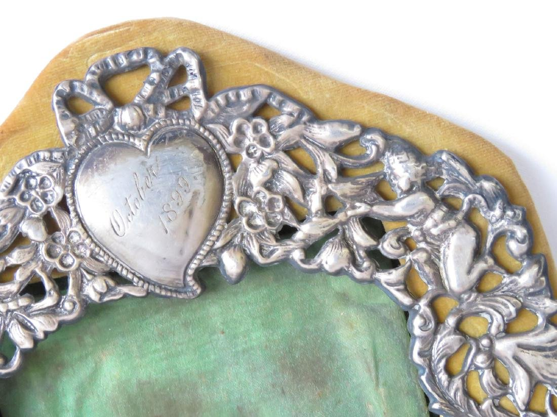 (2) RENAISSANCE STYLE STERLING FRAMES 19TH C. - 2