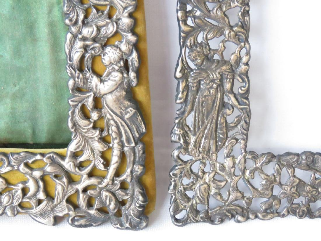 (2) RENAISSANCE STYLE STERLING FRAMES 19TH C. - 4