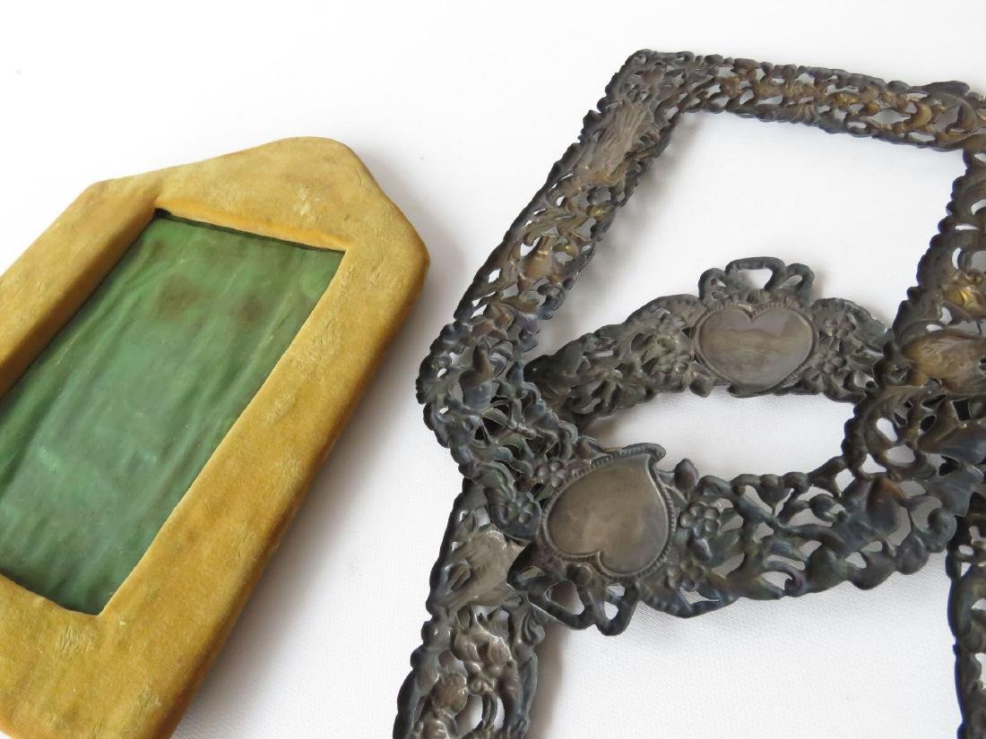 (2) RENAISSANCE STYLE STERLING FRAMES 19TH C. - 5