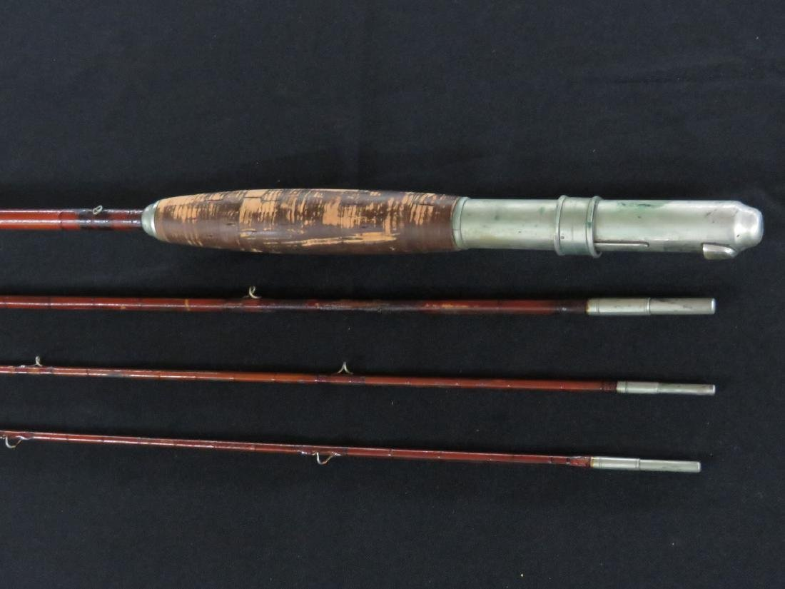 RARE WARRANTED BY VARNEY BROS BAMBOO FLY POLE - 3