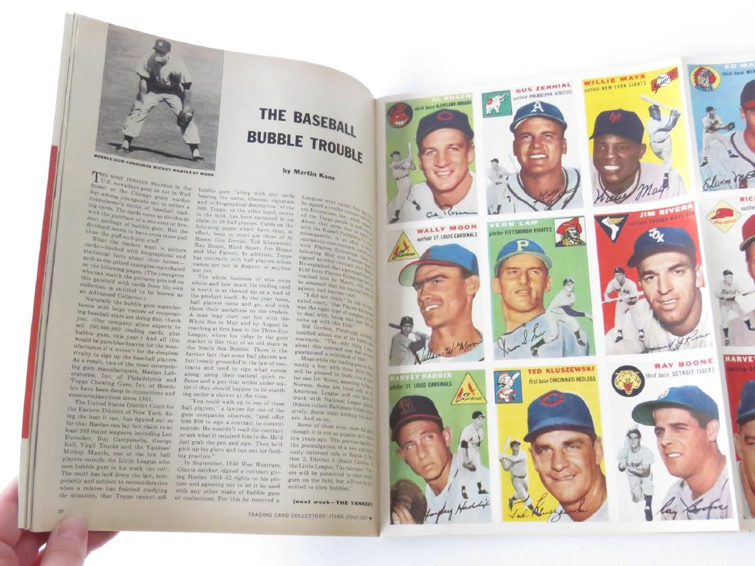 SPORTS ILLUS. 1ST ISSUE W/ BASEBALL CARDS, 1954 - 2