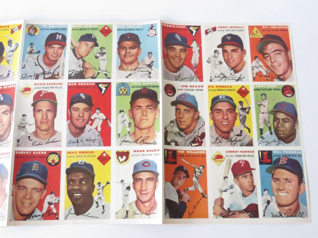SPORTS ILLUS. 1ST ISSUE W/ BASEBALL CARDS, 1954 - 3