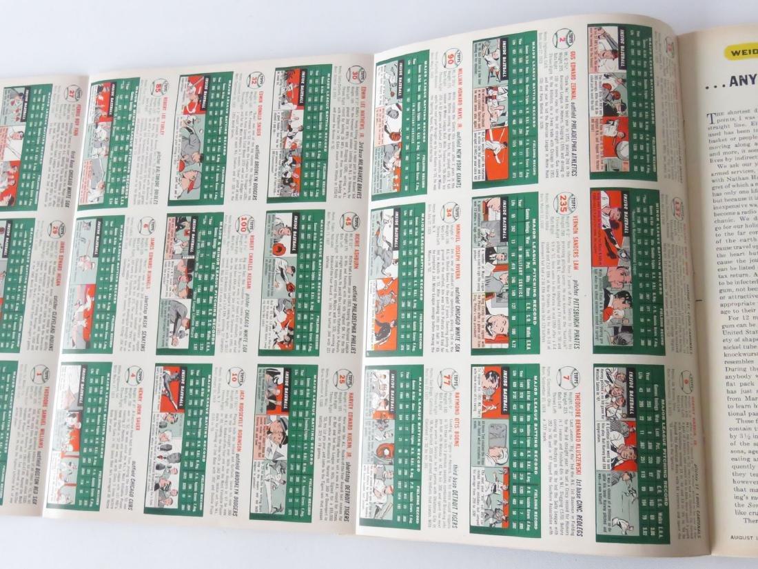 SPORTS ILLUS. 1ST ISSUE W/ BASEBALL CARDS, 1954 - 4