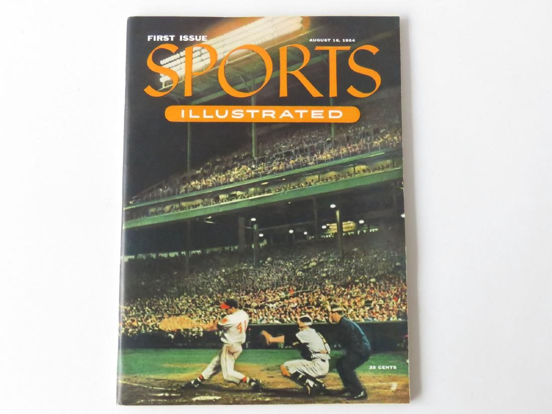 SPORTS ILLUS. 1ST ISSUE W/ BASEBALL CARDS, 1954 - 6