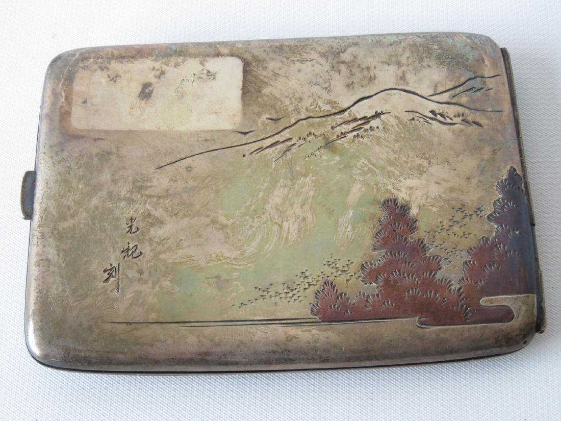 JAPANESE MIXED METAL/STERLING CIGARETTE CASE - 2