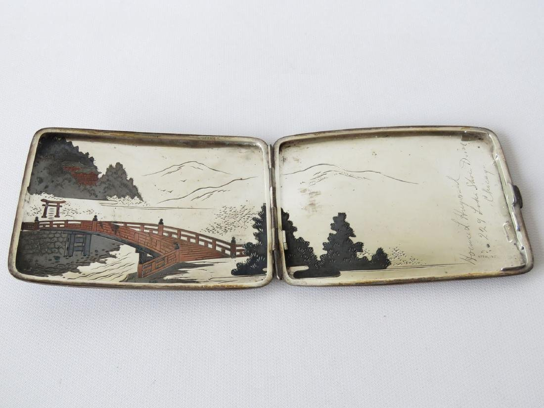 JAPANESE MIXED METAL/STERLING CIGARETTE CASE - 3