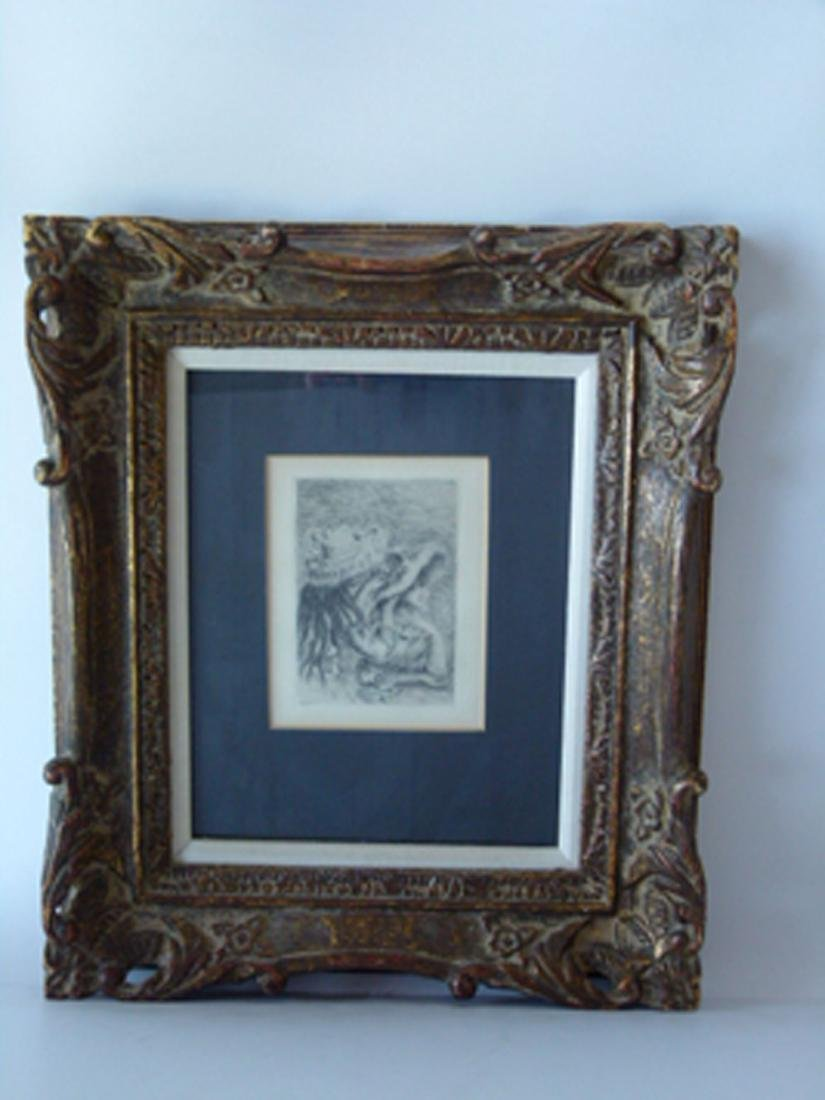 ETCHING, SIGNED IN PLATE RENOIR, (THE HAT PINNED) - 2