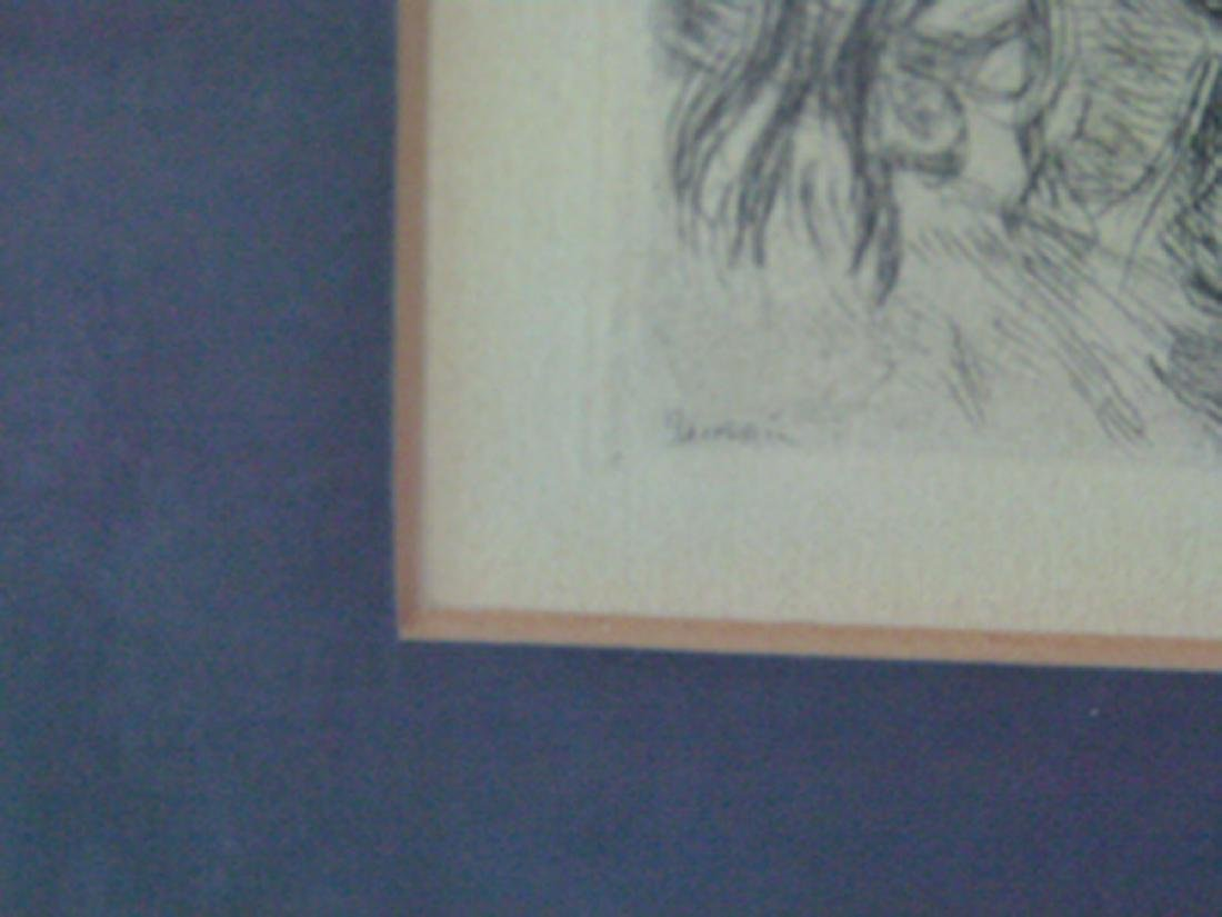 ETCHING, SIGNED IN PLATE RENOIR, (THE HAT PINNED) - 3