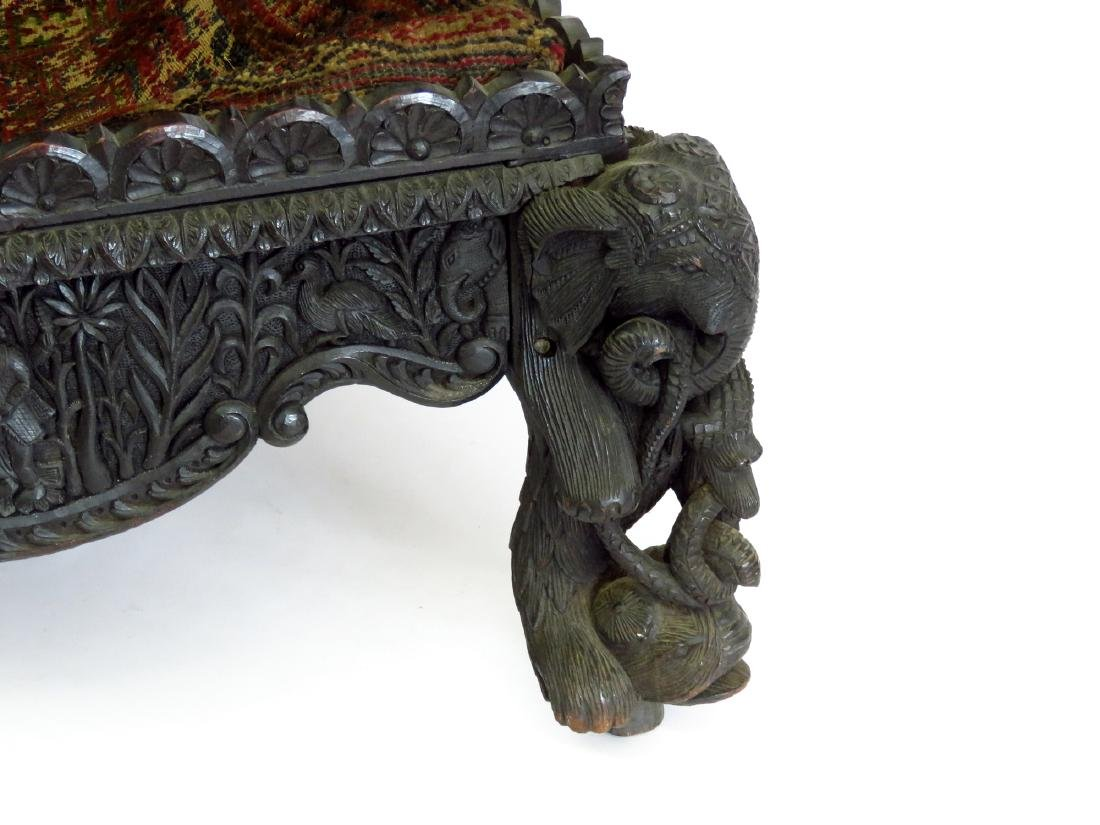INDIA ROYAL COURT ROSEWOOD THRONE 18/19TH C - 4