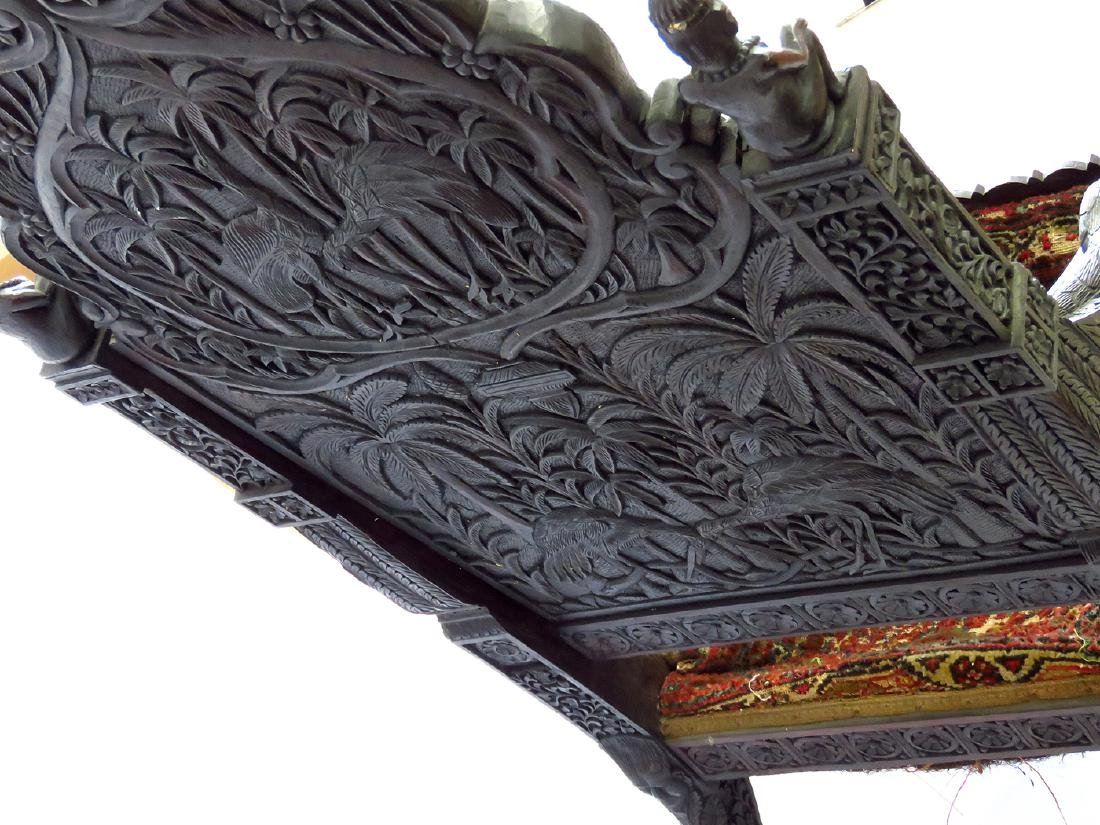 INDIA ROYAL COURT ROSEWOOD THRONE 18/19TH C - 8
