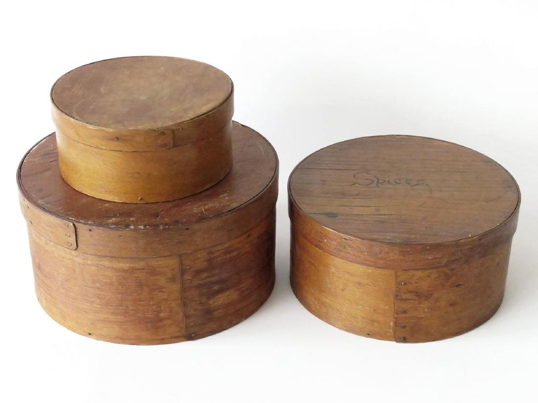 LOT (3) COUNTRY PANTRY BOXES 19/20TH. C.