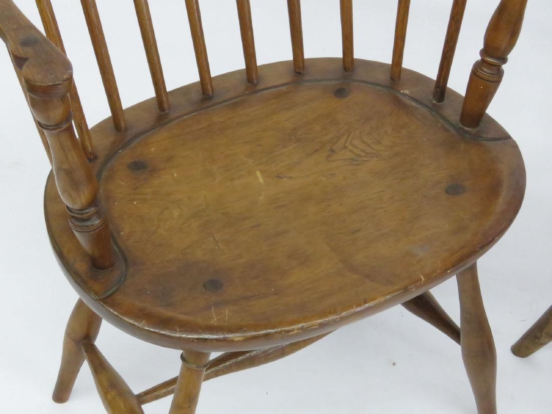 LOT 4 NEW ENGLAND STYLE SACK BACK WINDSOR CHAIRS - 2