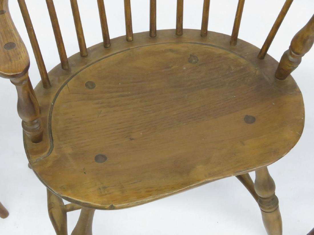 LOT 4 NEW ENGLAND STYLE SACK BACK WINDSOR CHAIRS - 3