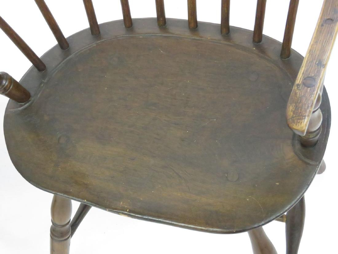 LOT 4 NEW ENGLAND STYLE SACK BACK WINDSOR CHAIRS - 4