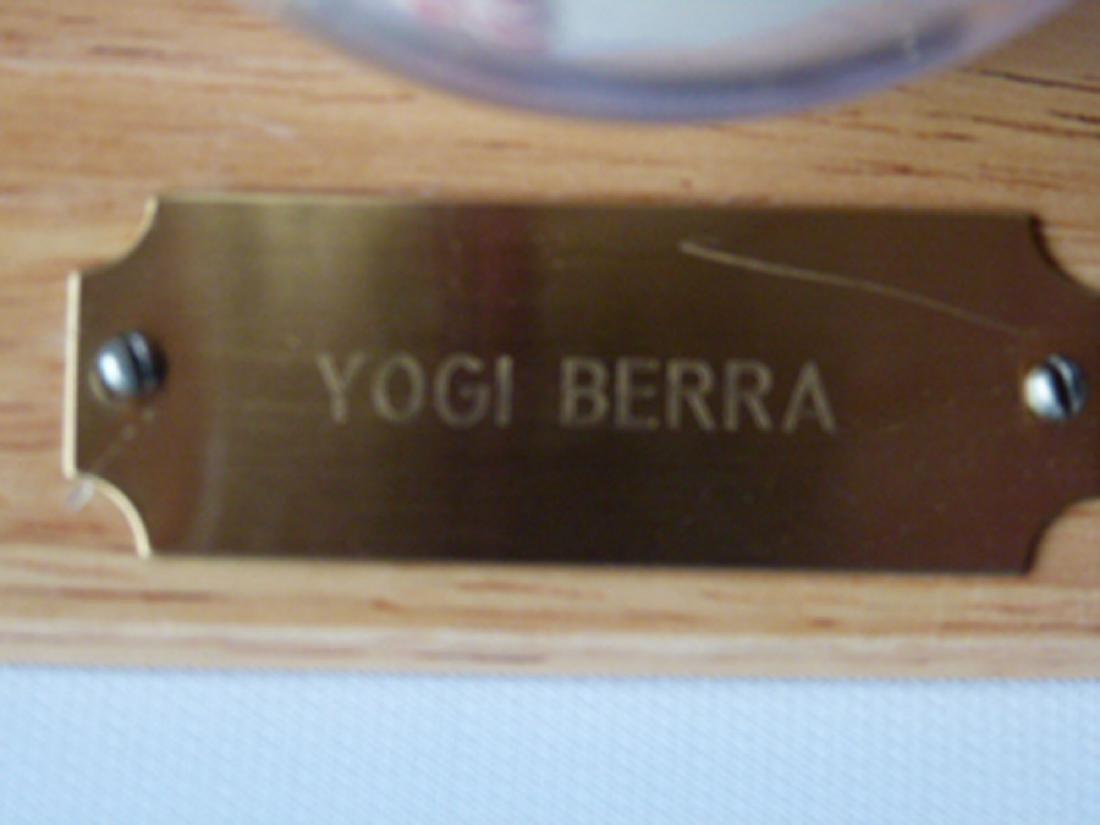 YOGI BERRA AUTOGRAPHED BASEBALL OAL BALL, B. BROWN - 3