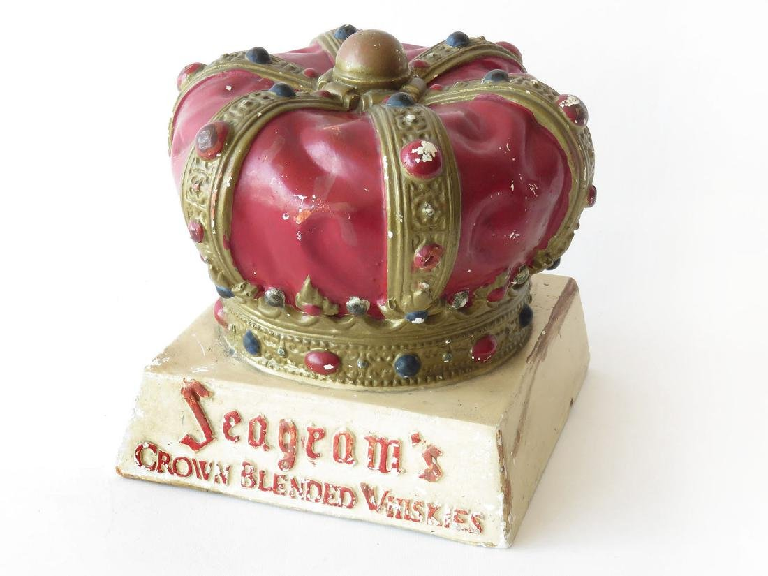 SEAGRAM'S CHALKWARE CROWN BLENDED WHISKEY AD