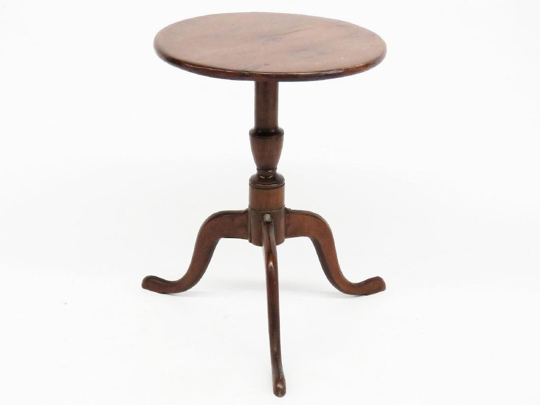 NEW ENGLAND MAPLE/PINE CANDLE STAND 18/19TH C.