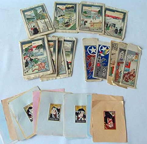 LOT ASSORTED JAPANESE WOOD BLOCK PRINTS 19/20TH C