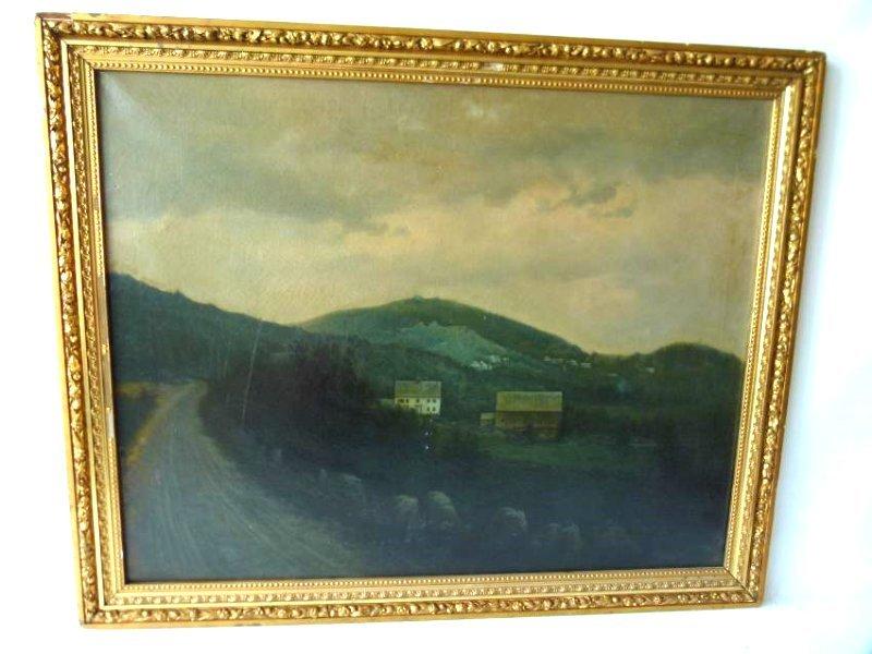 O/C LA RURAL LANDSCAPE SIGNED D. BOYDEN 19TH C.
