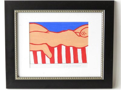 """""""PAINTING FOR AMERICAN NUDE"""" SIGNED WESSELMANN"""