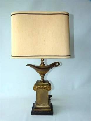 CLASSICAL BRASSBRONZEMARBLE ALLADINS LAMP