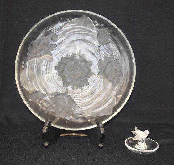 (2) INCL. FRENCH ART GLASS LALIQUE/VERLYS, 20TH C.