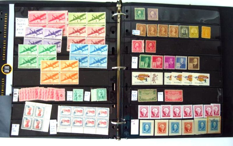 STAMP STOCK BOOK W/ ASSORTED US STAMPS