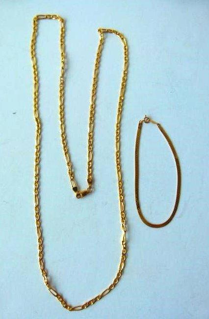 LOT (2) 14KT YELLOW GOLD BRACELET/NECKLACE