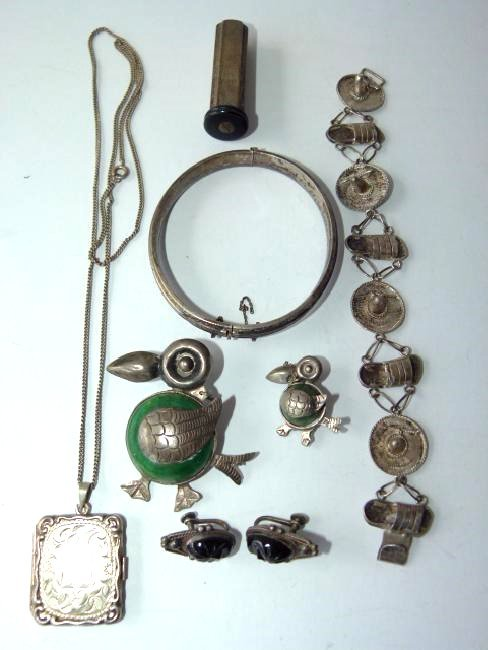 LOT ASSORTED MEXICAN/OTHER STERLING, 20TH C.