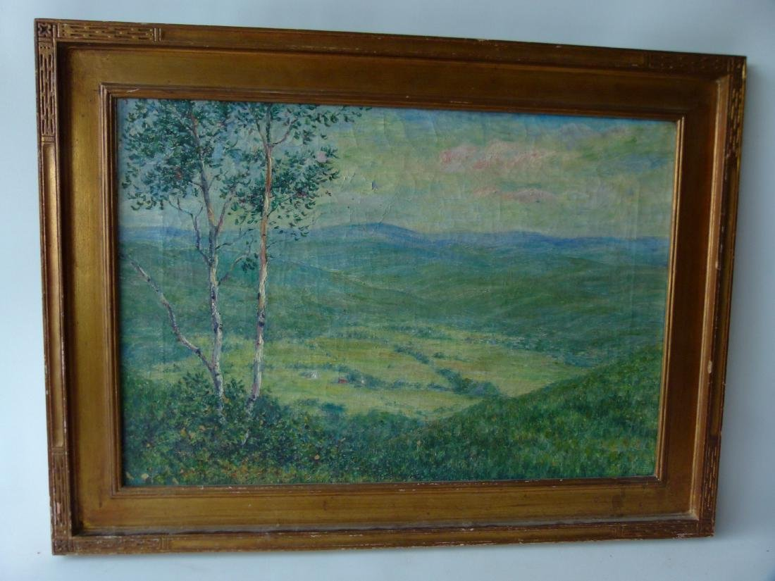 O/C VIEW OF ELLENVILLE SIGNED C B BROWN