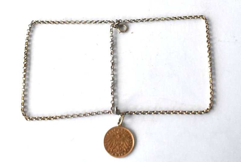 GERMAN 10 MARK GOLD COIN BRACELET