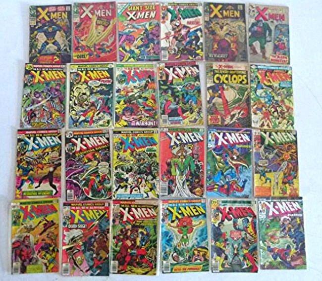 LOT VINTAGE COMICS INCL THE X-MEN #100 TO 170 PLUS