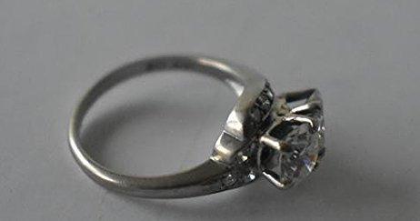 FINE 14 KT GOLD/1.9 CT. DIAMOND RING W/ UGL CERT. - 5