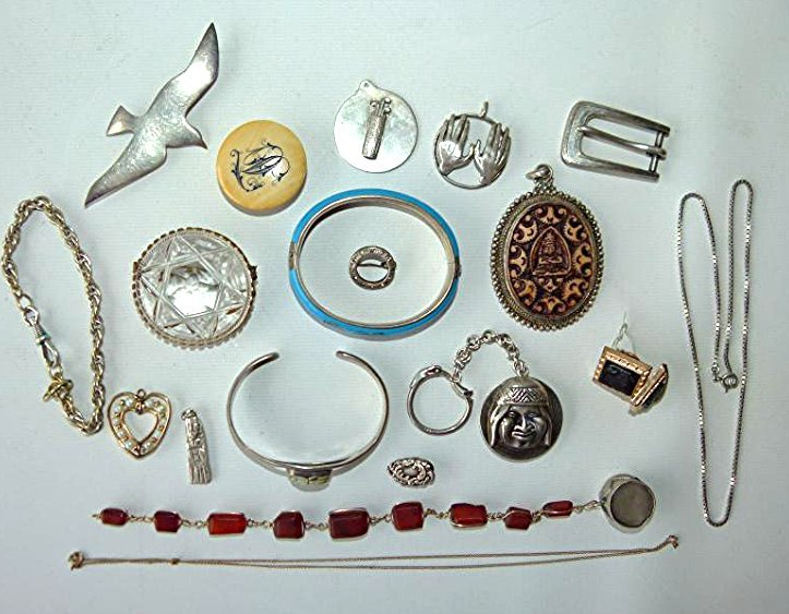 LOT ASSORTED PINS/MEXICAN SILVER 20TH C.