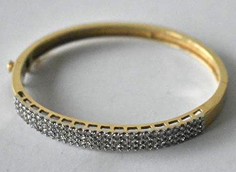 14KT YW/WH GOLD/DIAMOND BRACELET W/ APP. 2CTS